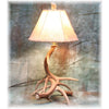 Small 3-4 Antler Whitetail Nightstand Lamp