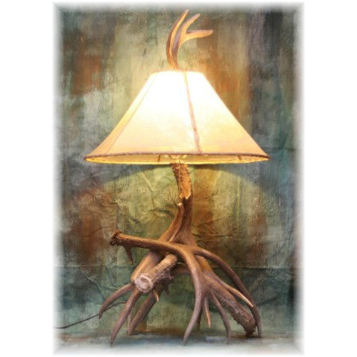 Trophy 3-4 Antler Mule Deer Table Lamp