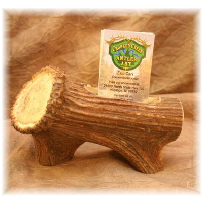 Elk Shed Antler Burr Business Card Holder