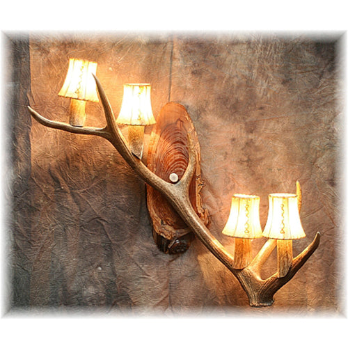 Elk Antler 4 Light Sconce