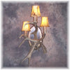 Fallow/Mule Deer Antler 3 Light Sconce