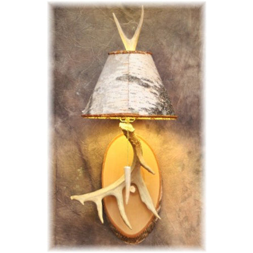 Large Whitetail Antler & Birch Sconce