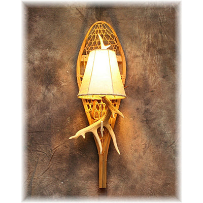 Medium Deer Antler Snowshoe Sconce