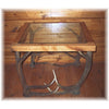 Oak and Glass Antler End Table