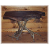 Elk Antler End Table with Walnut Slab Top