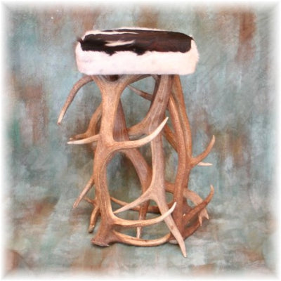 Elk Antler Bar Stool