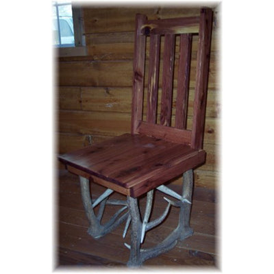 Elk Antler and Hickory Dining Chair