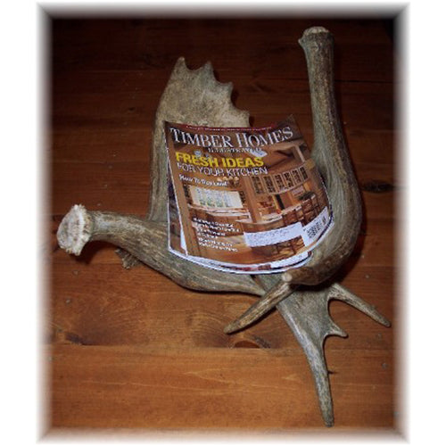 Horizontal Moose Antler Magazine Rack