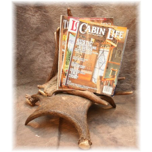 Vertical Moose Antler Magazine Rack