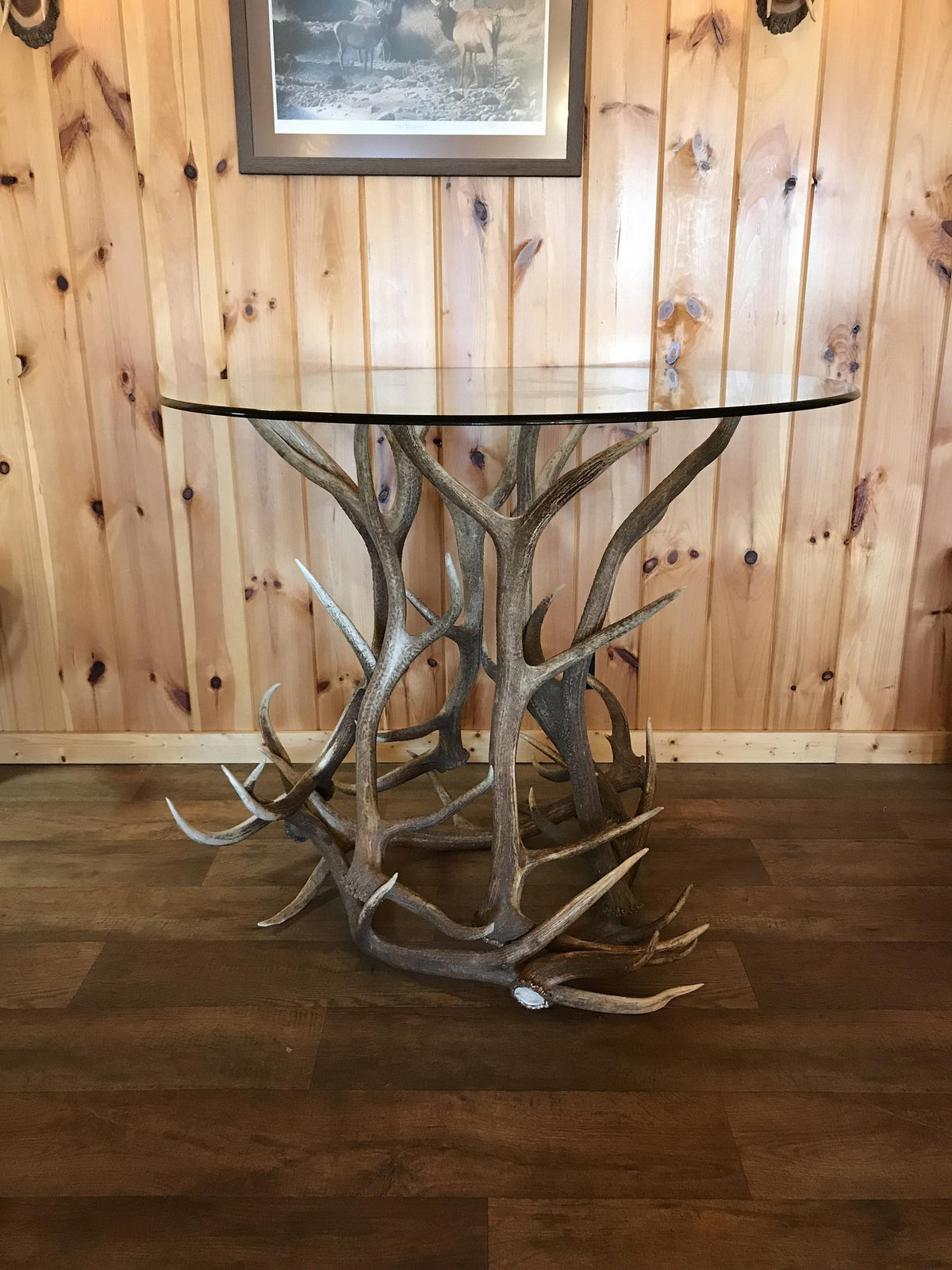 Elk Antler Pub Table Base