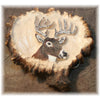 Elk Burr Belt Buckle w/ deer carving