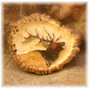 Elk Burr Belt Buckle w/ elk carving
