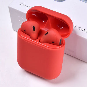 Auriculares inalámbricos bluetooth AudioAir Pro i12 de color rojo mate