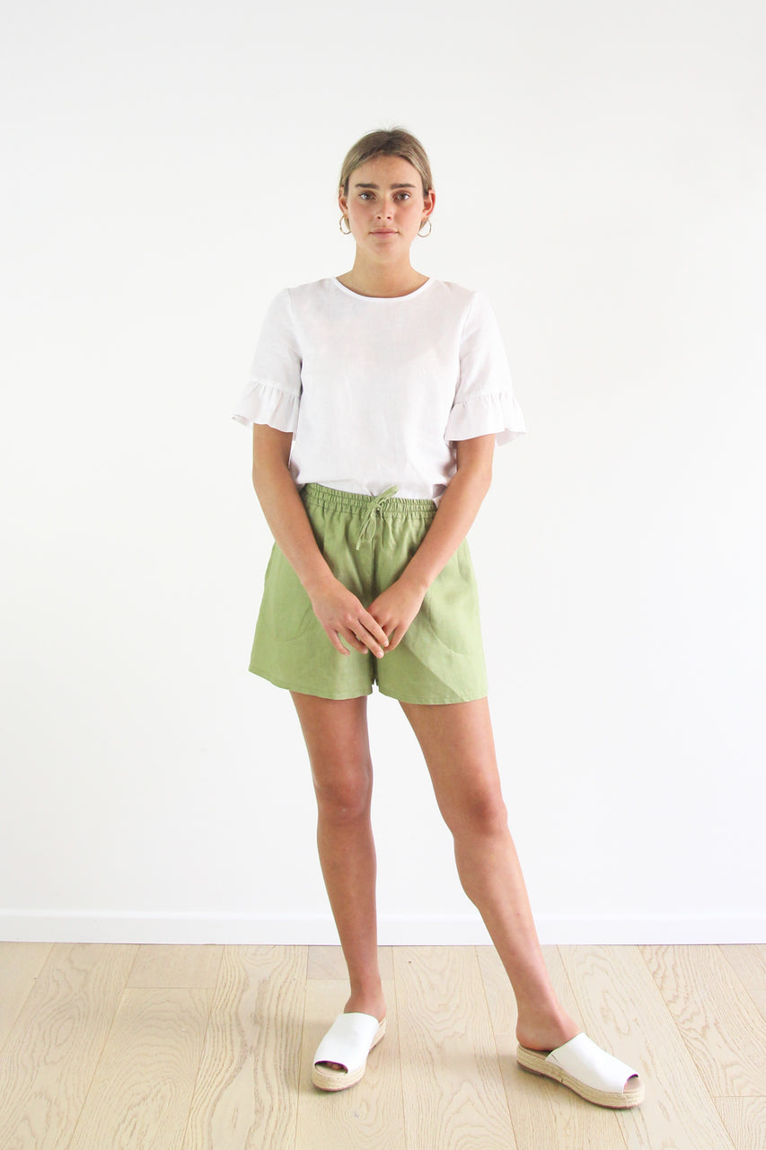 Evie Shorts- Fern