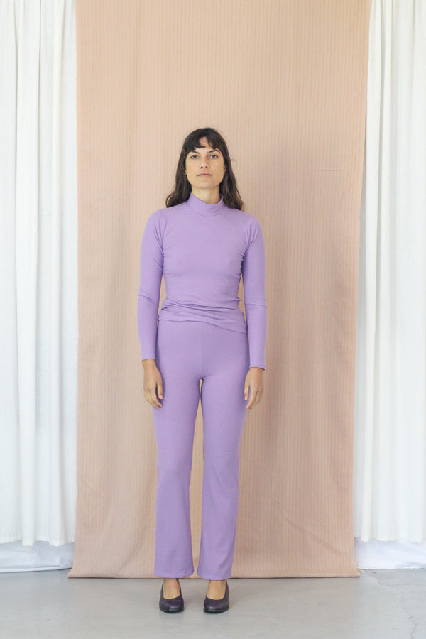 Rib Turtleneck- Lavender