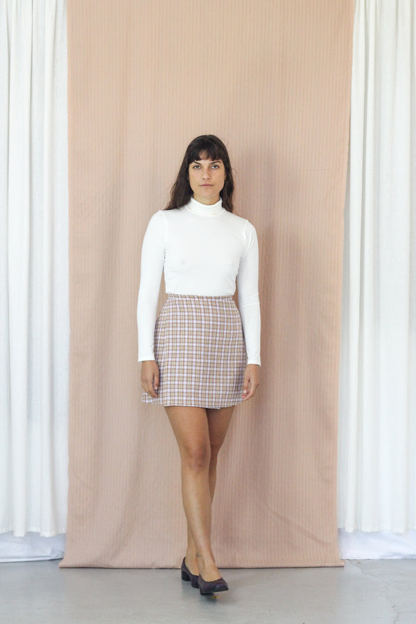 Mini Wrap Skirt- Thistle Gingham