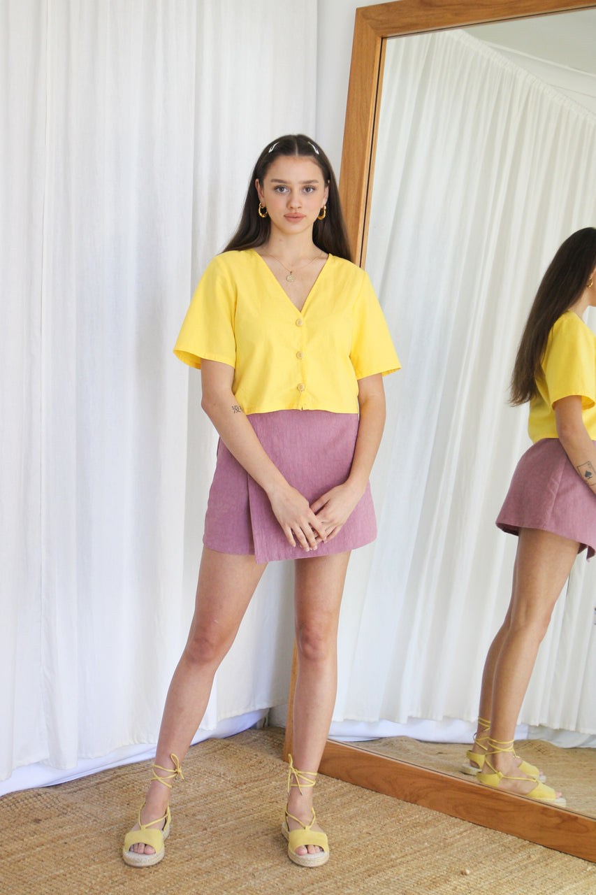 Aggie Blouse- Lemonade