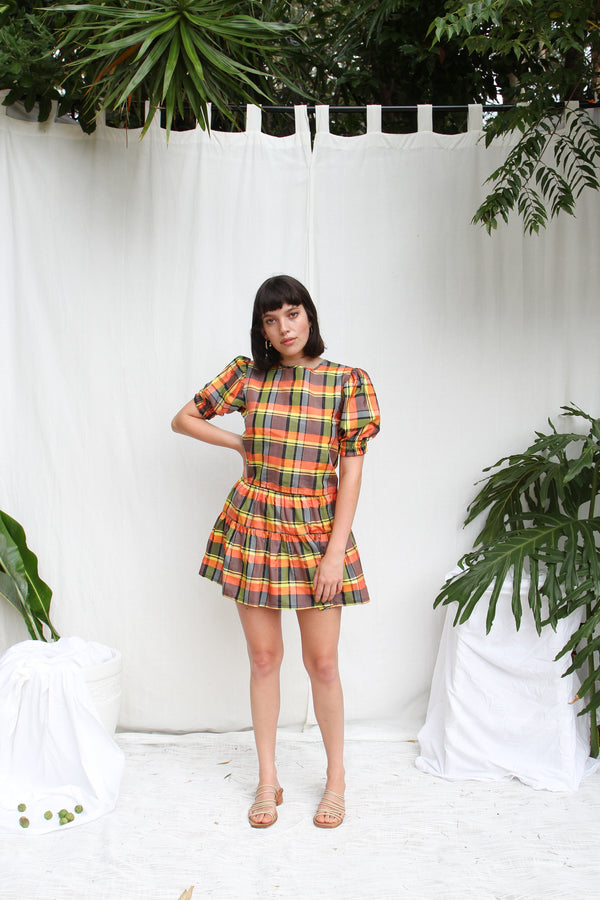 Bette Skirt- Jungle Check