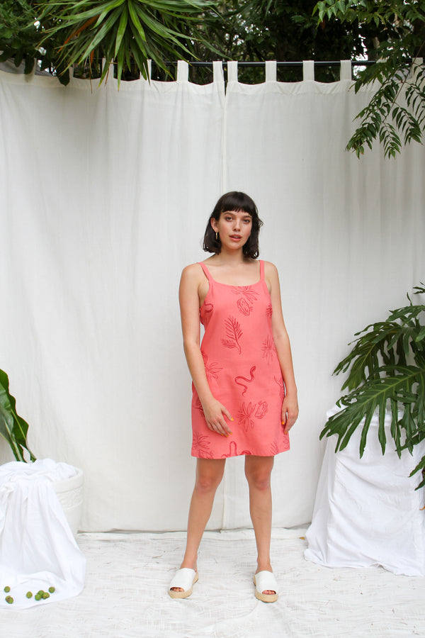 Lexi Dress- Guava