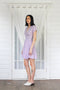 Sophia Wrap Dress- Lilac Stripe