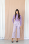 Grace Trousers- Lilac Stripe