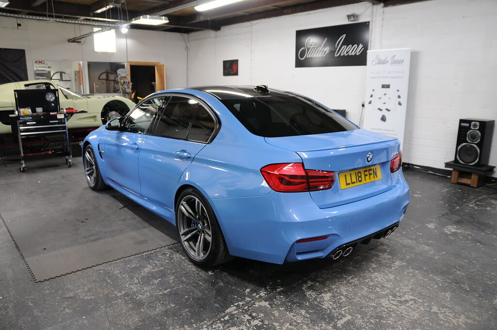 BMW M3 Full Garage Shot Rear