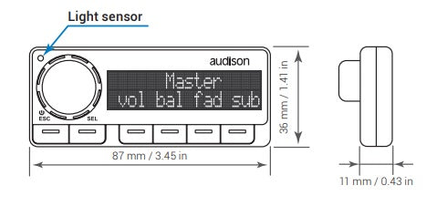 Audison DRC MP Dimensions