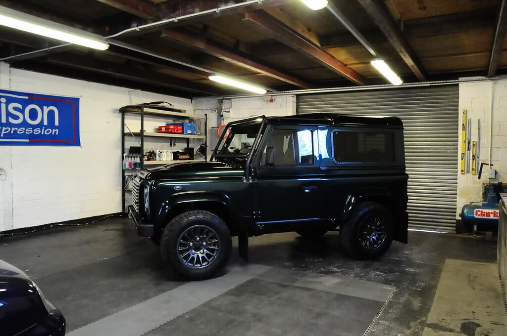 Defender Garage Shot