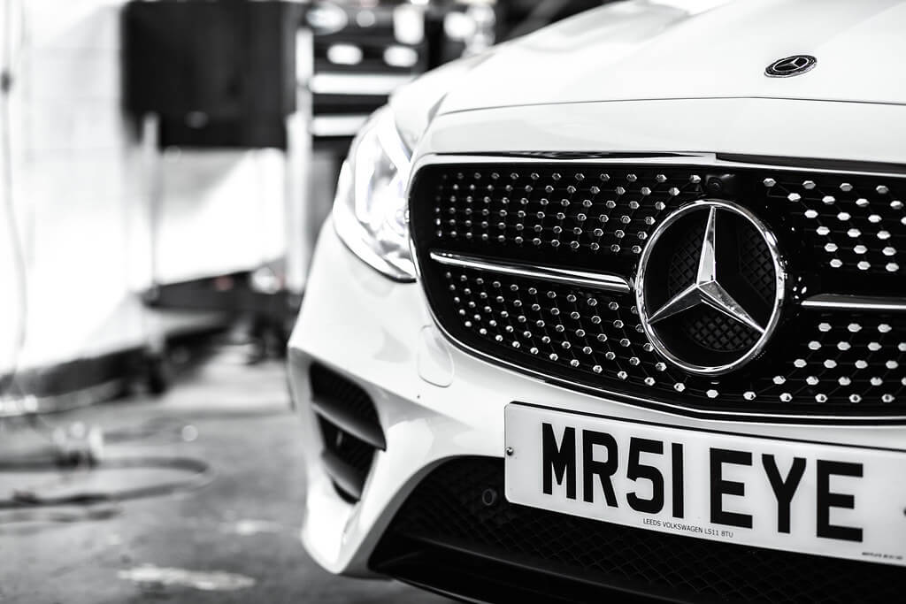 Mercedes Badge Shot