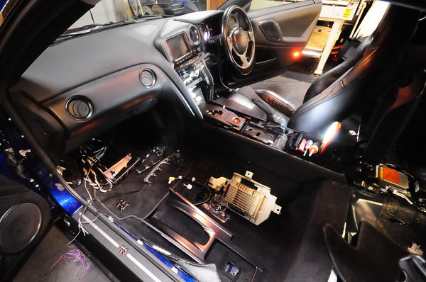GTR Interior Console Dismantled