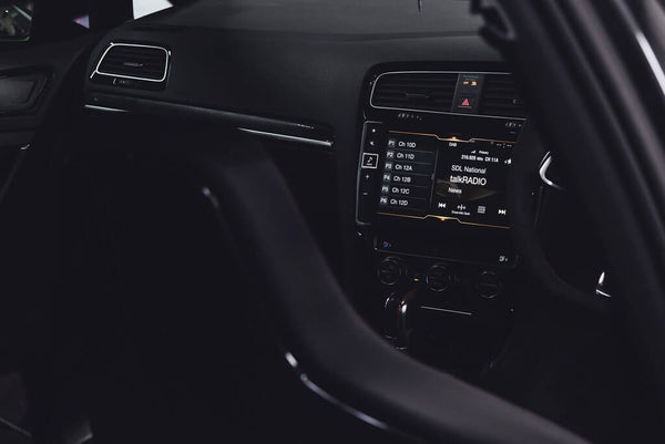 VW Golf Interior Dashboard Shot