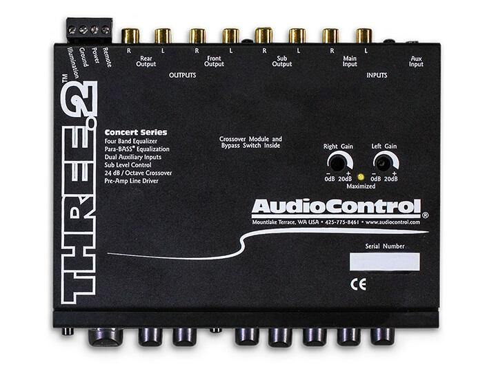 AudioControl Three.2 - In-Dash Equalizer/ Crossover