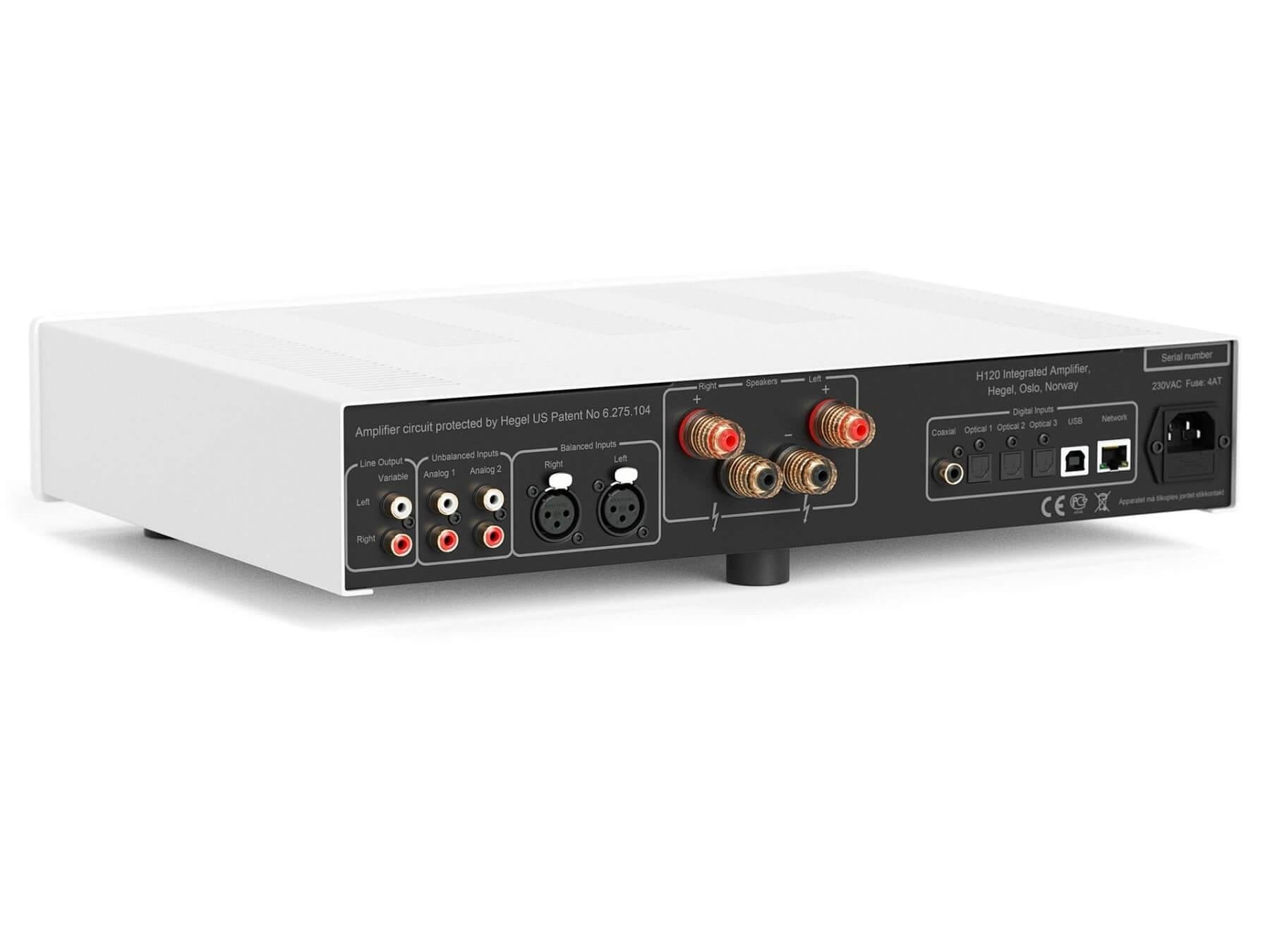 Hegel H120 - Stereo Integrated Amplifier - Back Angle