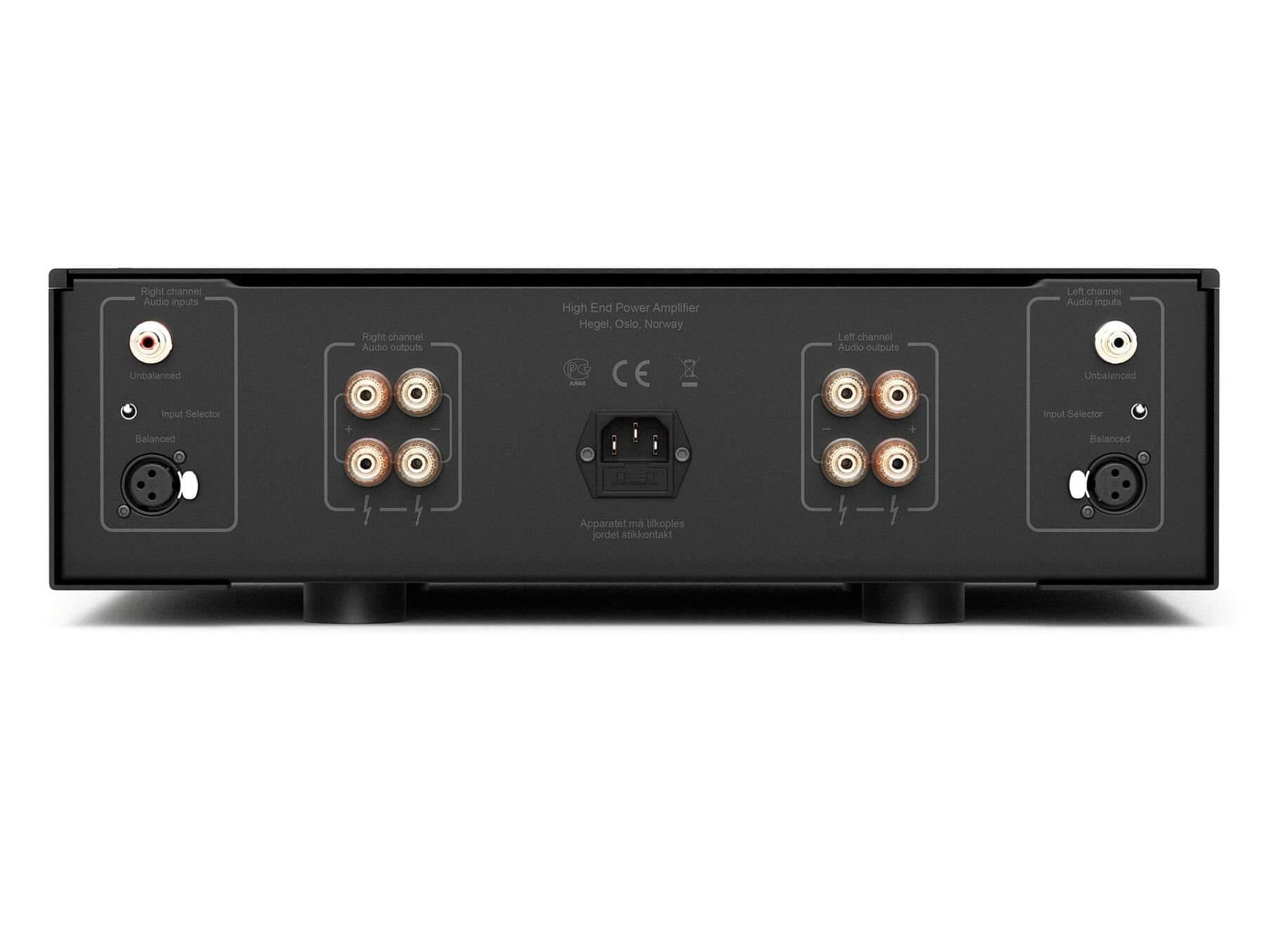 Hegel H20 - Dual Mono Power Amplifier - Back