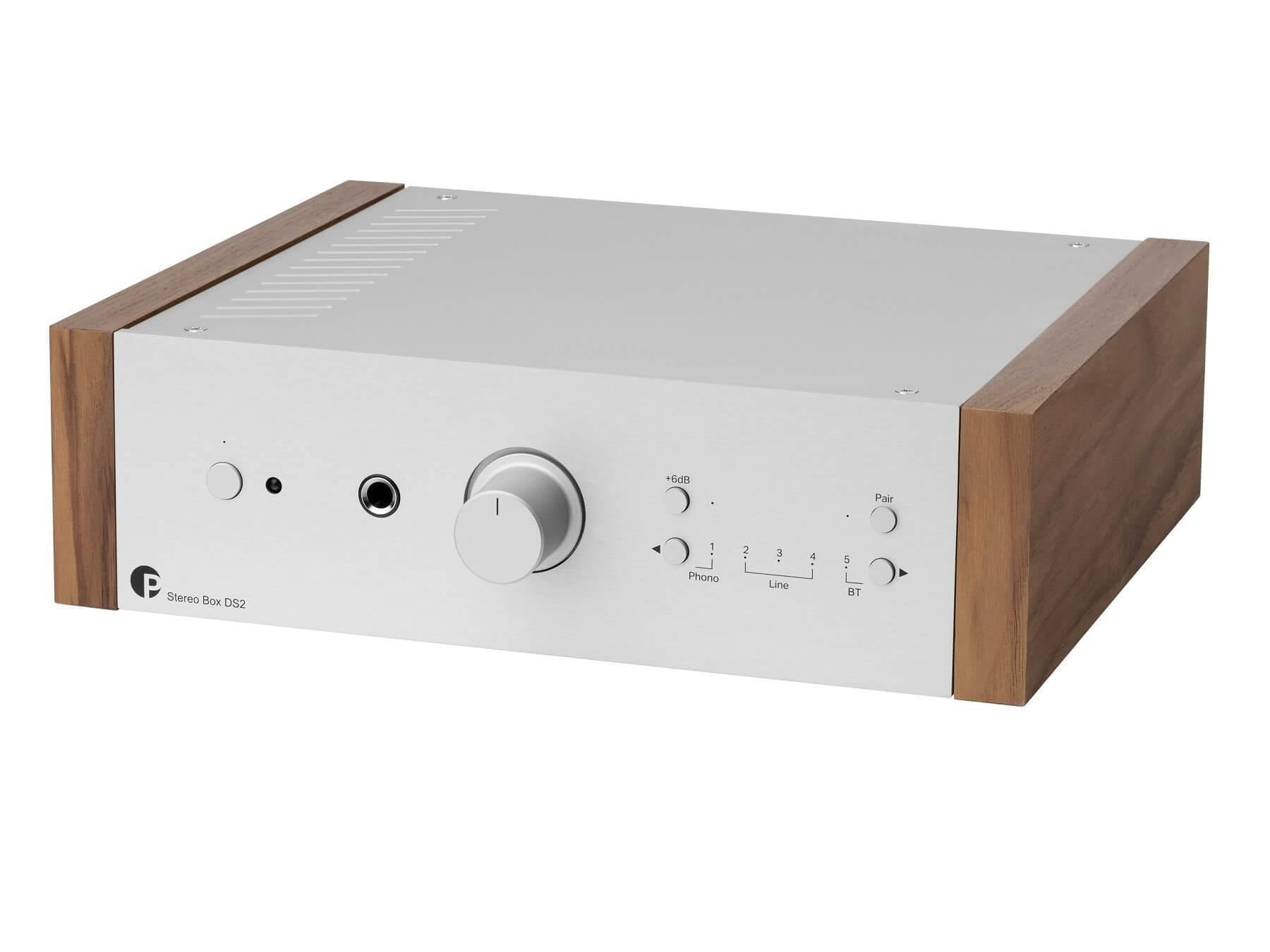 Pro-Ject Stereo Box DS2 - Stereo Integrated Amplifier - Silver / Walnut