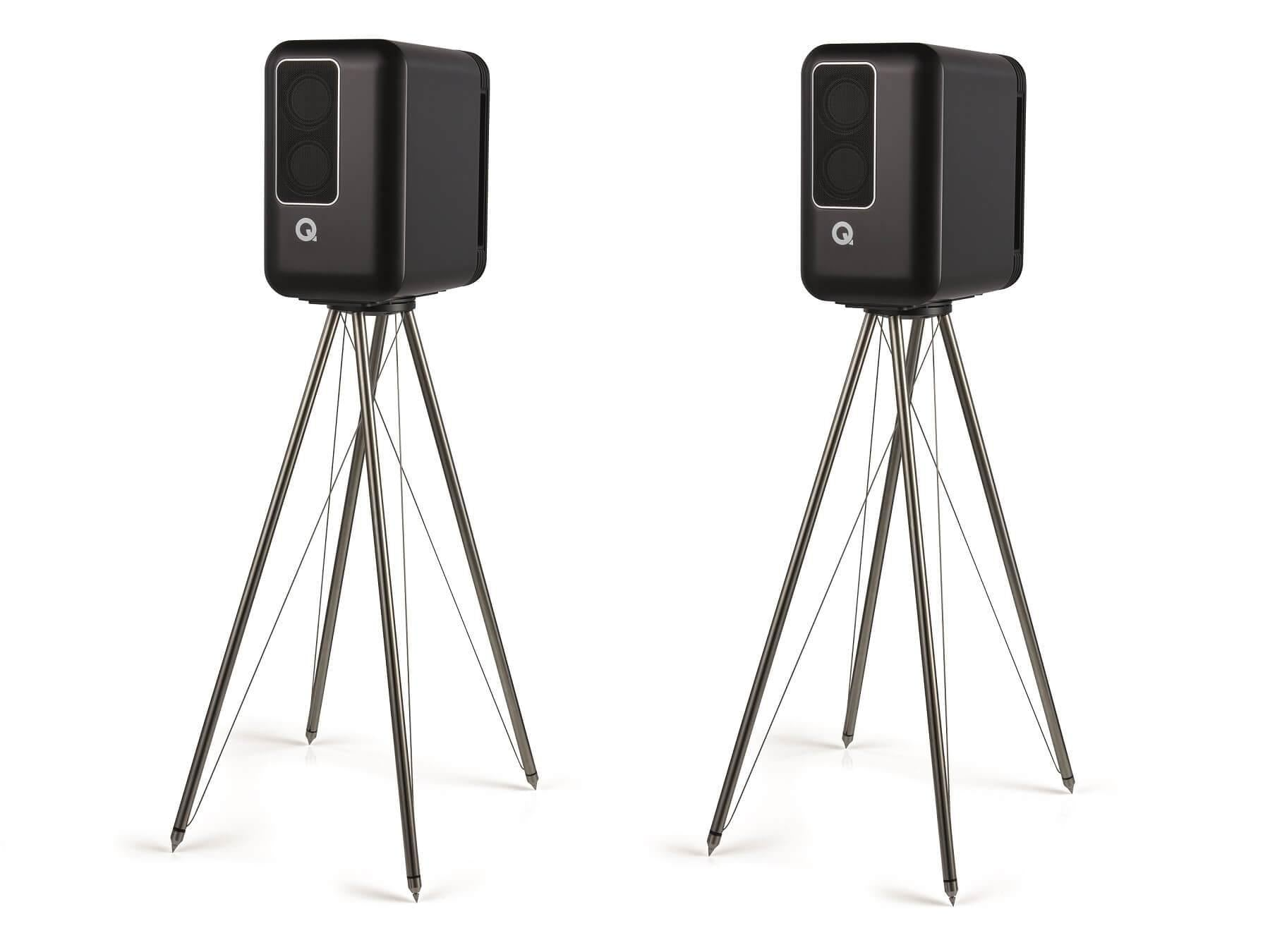 Q Acoustics Q Active 200 - Speakers and Stands Black