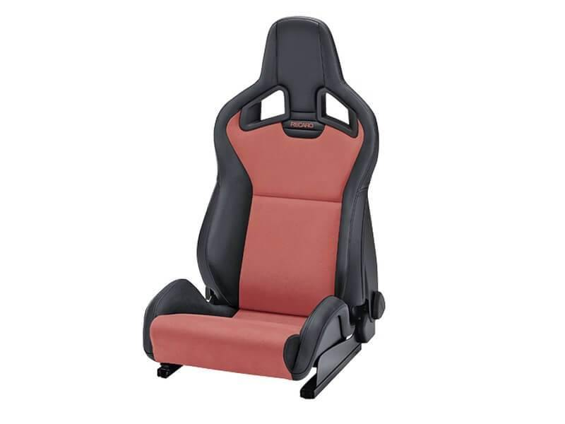 RECARO Sportster CS - Ambla Leather Black / Dinamica Suede Red