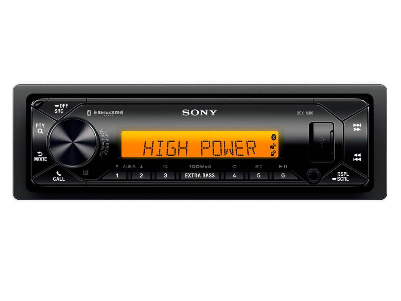 Sony DSX-M80 - High-Power Marine Media Receiver - 2