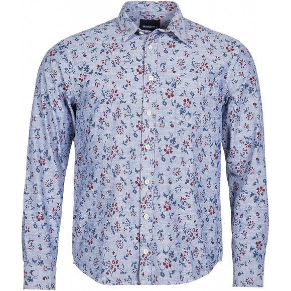 North 56.4 Flowers Printed L/S Shirt