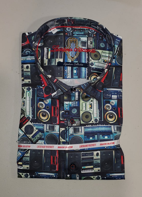 Luchiano Visconti Boom Box S/S Shirt