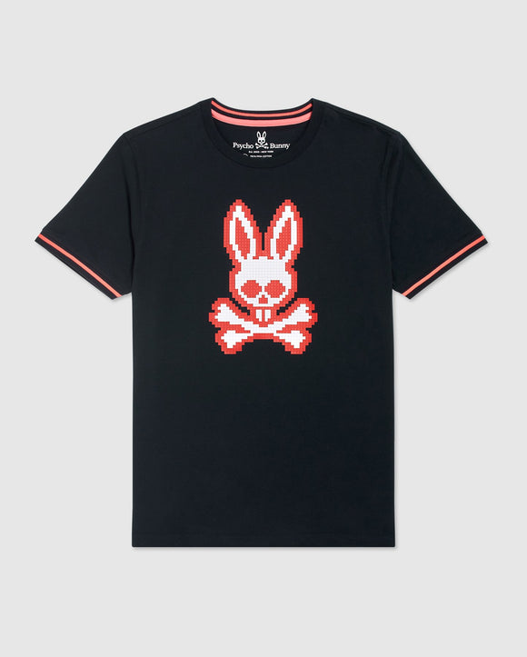 Psycho Bunny Mens Big And Tall Hatton Graphic Tee