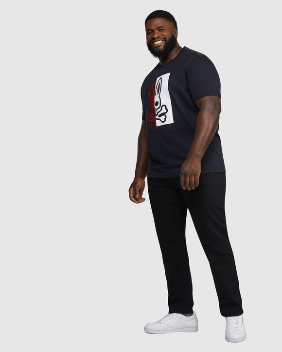 Psycho Bunny Mens Big And Tall Dovedale Graphic Tee