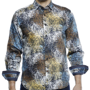 Luchiano Visconti Circle Lines L/S Shirt