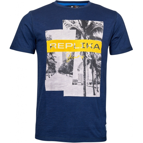 Replika Printed Palms Photo T-Shirt