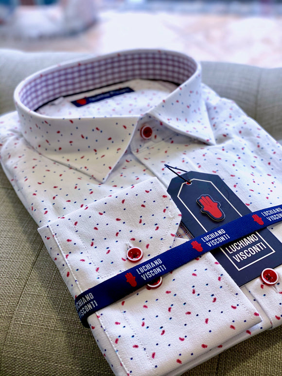 Luchiano Visconti  Multi Speckled LS Shirt