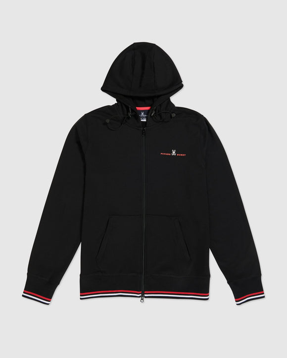 Psycho Bunny Men's B&T Palmer Full Zip Hoodie