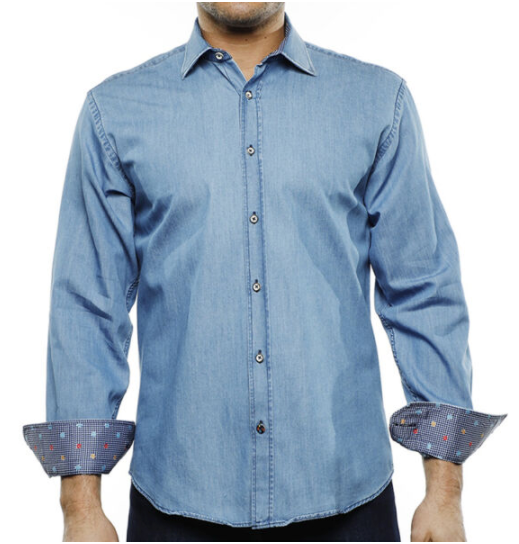 Luchiano Visconti Denim L/S Shirt
