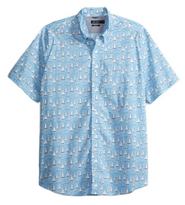 Nautica Sailboat Stretch Poplin Shirt