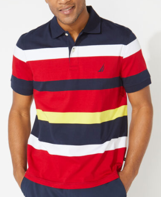 Nautica Classic Fit Striped Polo