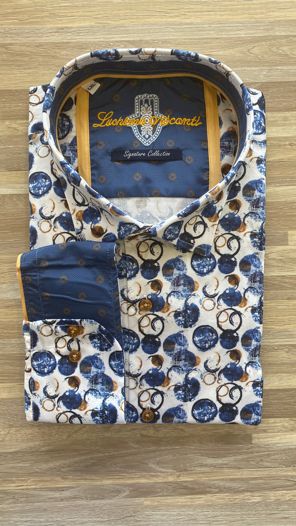 LV Signature Collection Rusty Circles LS Shirt